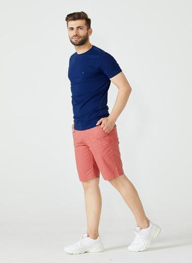 Sementa Erkek Sıfır Yaka Basic Tshirt - Koyu Indigo İndigo
